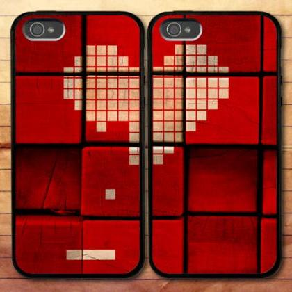 The Part Of Heart iPhone 6 Plus 6 5S 5C 5 4S 4 Samsung Galaxy S6 S5 Mini S4 S3 Note 4 Couple Cases (2 Cases)