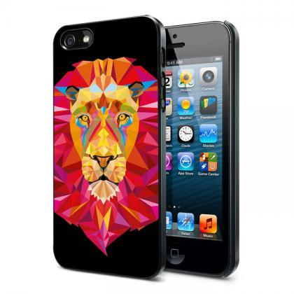 Lion King Polygonal iPhone 6 Plus 6 5S 5C 5 4S 4 Samsung Galaxy S6 S5 Mini S4 S3 Note 4 Case